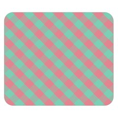 Cross Pink Green Gingham Digital Paper Double Sided Flano Blanket (small)  by Alisyart