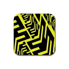 Pattern Abstract Rubber Square Coaster (4 Pack)  by Simbadda