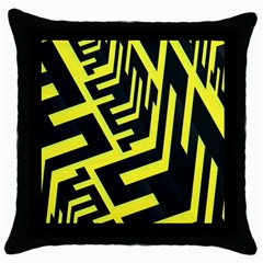 Pattern Abstract Throw Pillow Case (black)