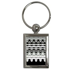 Chevron Wave Triangle Waves Grey Black Key Chains (rectangle)  by Alisyart