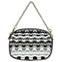 Chevron Wave Triangle Waves Grey Black Chain Purses (two Sides)  by Alisyart