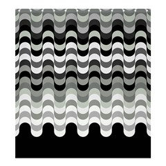 Chevron Wave Triangle Waves Grey Black Shower Curtain 66  X 72  (large)  by Alisyart