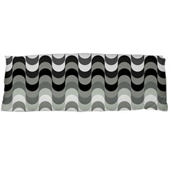Chevron Wave Triangle Waves Grey Black Body Pillow Case Dakimakura (two Sides) by Alisyart
