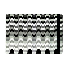 Chevron Wave Triangle Waves Grey Black Apple Ipad Mini Flip Case