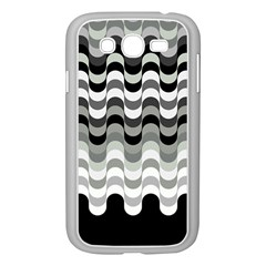 Chevron Wave Triangle Waves Grey Black Samsung Galaxy Grand Duos I9082 Case (white) by Alisyart