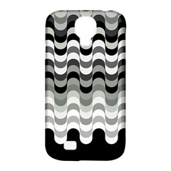 Chevron Wave Triangle Waves Grey Black Samsung Galaxy S4 Classic Hardshell Case (pc+silicone) by Alisyart