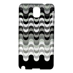Chevron Wave Triangle Waves Grey Black Samsung Galaxy Note 3 N9005 Hardshell Case by Alisyart