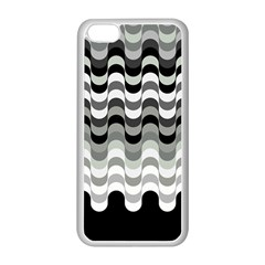 Chevron Wave Triangle Waves Grey Black Apple Iphone 5c Seamless Case (white) by Alisyart