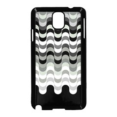 Chevron Wave Triangle Waves Grey Black Samsung Galaxy Note 3 Neo Hardshell Case (black)