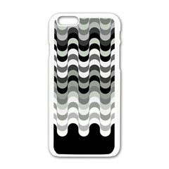 Chevron Wave Triangle Waves Grey Black Apple Iphone 6/6s White Enamel Case by Alisyart