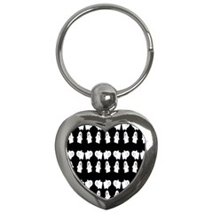 Cute Ghost Pattern Key Chains (heart)  by Simbadda