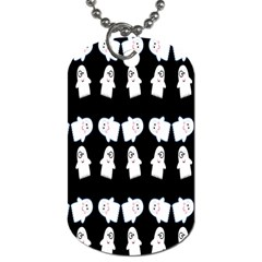 Cute Ghost Pattern Dog Tag (one Side) by Simbadda