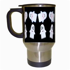 Cute Ghost Pattern Travel Mugs (white) by Simbadda