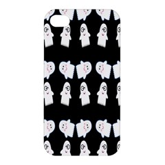 Cute Ghost Pattern Apple Iphone 4/4s Hardshell Case by Simbadda