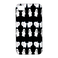 Cute Ghost Pattern Apple Iphone 4/4s Hardshell Case With Stand