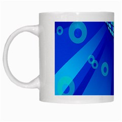 Disco Ball Retina Blue Circle Light White Mugs by Alisyart