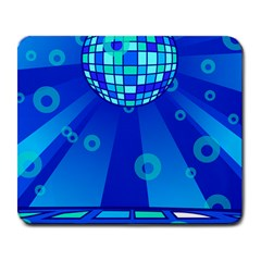 Disco Ball Retina Blue Circle Light Large Mousepads