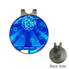 Disco Ball Retina Blue Circle Light Hat Clips With Golf Markers by Alisyart