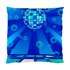 Disco Ball Retina Blue Circle Light Standard Cushion Case (one Side)