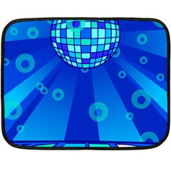 Disco Ball Retina Blue Circle Light Fleece Blanket (mini) by Alisyart