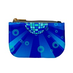 Disco Ball Retina Blue Circle Light Mini Coin Purses by Alisyart