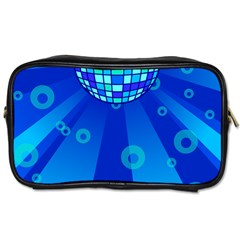 Disco Ball Retina Blue Circle Light Toiletries Bags 2 Side