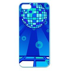 Disco Ball Retina Blue Circle Light Apple Seamless Iphone 5 Case (color)