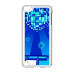 Disco Ball Retina Blue Circle Light Apple Ipod Touch 5 Case (white) by Alisyart