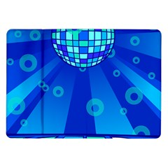 Disco Ball Retina Blue Circle Light Samsung Galaxy Tab 10 1  P7500 Flip Case