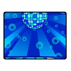Disco Ball Retina Blue Circle Light Double Sided Fleece Blanket (small)