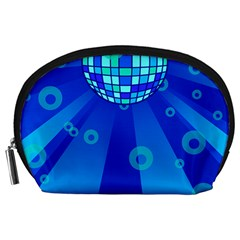 Disco Ball Retina Blue Circle Light Accessory Pouches (large)  by Alisyart