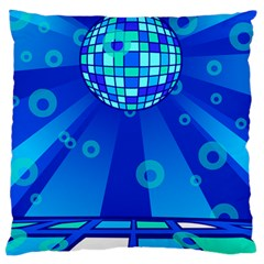 Disco Ball Retina Blue Circle Light Standard Flano Cushion Case (one Side) by Alisyart
