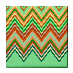 Chevron Wave Color Rainbow Triangle Waves Tile Coasters by Alisyart
