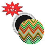 Chevron Wave Color Rainbow Triangle Waves 1 75  Magnets (10 Pack)  by Alisyart