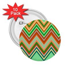 Chevron Wave Color Rainbow Triangle Waves 2 25  Buttons (10 Pack)  by Alisyart