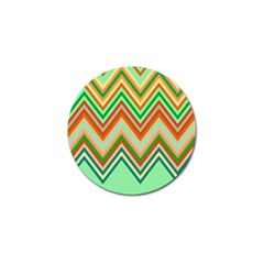 Chevron Wave Color Rainbow Triangle Waves Golf Ball Marker (10 Pack)