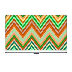 Chevron Wave Color Rainbow Triangle Waves Business Card Holders by Alisyart
