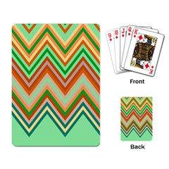 Chevron Wave Color Rainbow Triangle Waves Playing Card