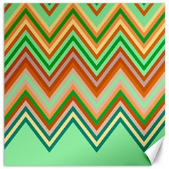 Chevron Wave Color Rainbow Triangle Waves Canvas 20  X 20   by Alisyart