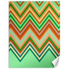 Chevron Wave Color Rainbow Triangle Waves Canvas 18  X 24   by Alisyart