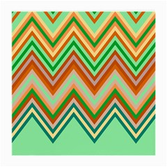 Chevron Wave Color Rainbow Triangle Waves Medium Glasses Cloth (2-side) by Alisyart