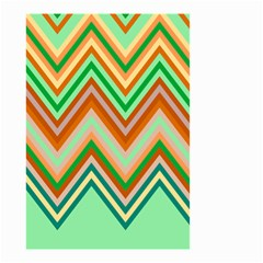 Chevron Wave Color Rainbow Triangle Waves Small Garden Flag (two Sides) by Alisyart
