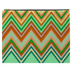 Chevron Wave Color Rainbow Triangle Waves Cosmetic Bag (xxxl)