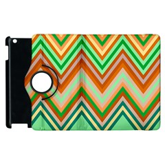 Chevron Wave Color Rainbow Triangle Waves Apple Ipad 2 Flip 360 Case by Alisyart