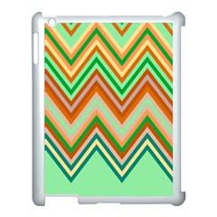 Chevron Wave Color Rainbow Triangle Waves Apple Ipad 3/4 Case (white)