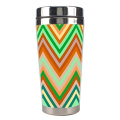 Chevron Wave Color Rainbow Triangle Waves Stainless Steel Travel Tumblers by Alisyart