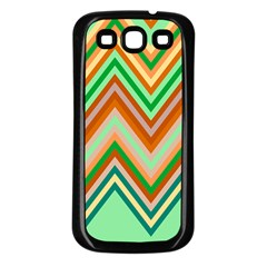 Chevron Wave Color Rainbow Triangle Waves Samsung Galaxy S3 Back Case (black)