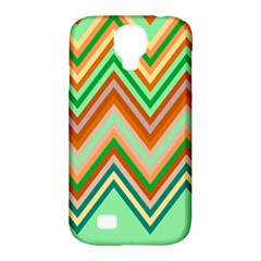 Chevron Wave Color Rainbow Triangle Waves Samsung Galaxy S4 Classic Hardshell Case (pc+silicone) by Alisyart