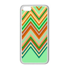 Chevron Wave Color Rainbow Triangle Waves Apple Iphone 5c Seamless Case (white) by Alisyart
