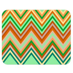 Chevron Wave Color Rainbow Triangle Waves Double Sided Flano Blanket (medium)